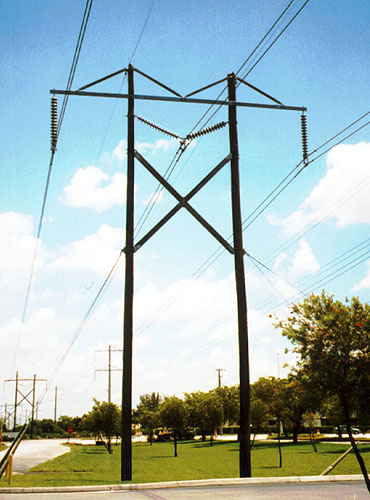 H Frame Transmission Power Pole : Fundamentals of electricity towers